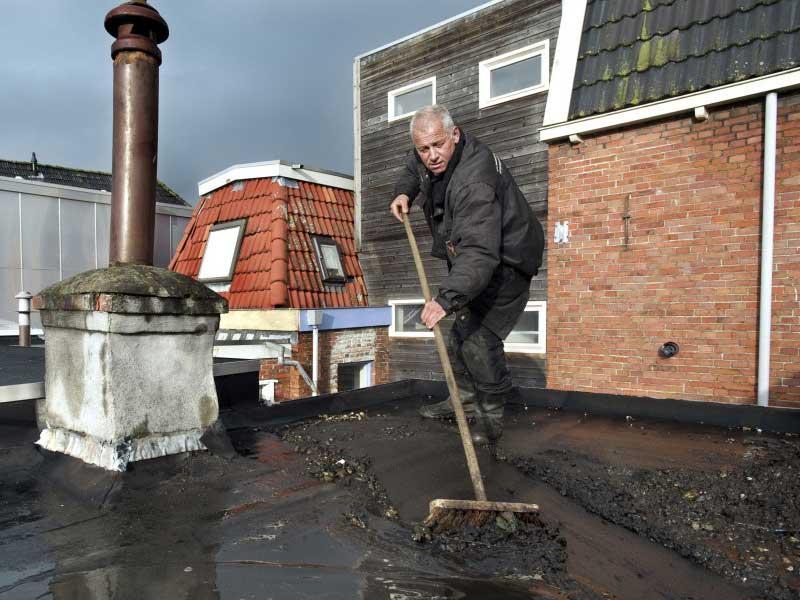 dakonderhoud Groningen aan plat dak